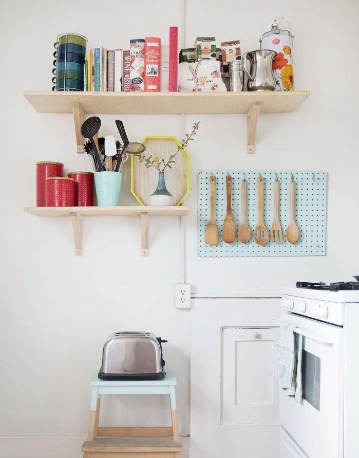 baldas de madera para cocina