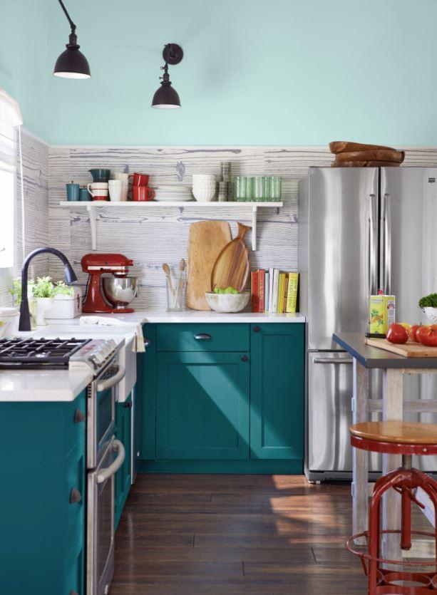 colores para una cocina pequeña