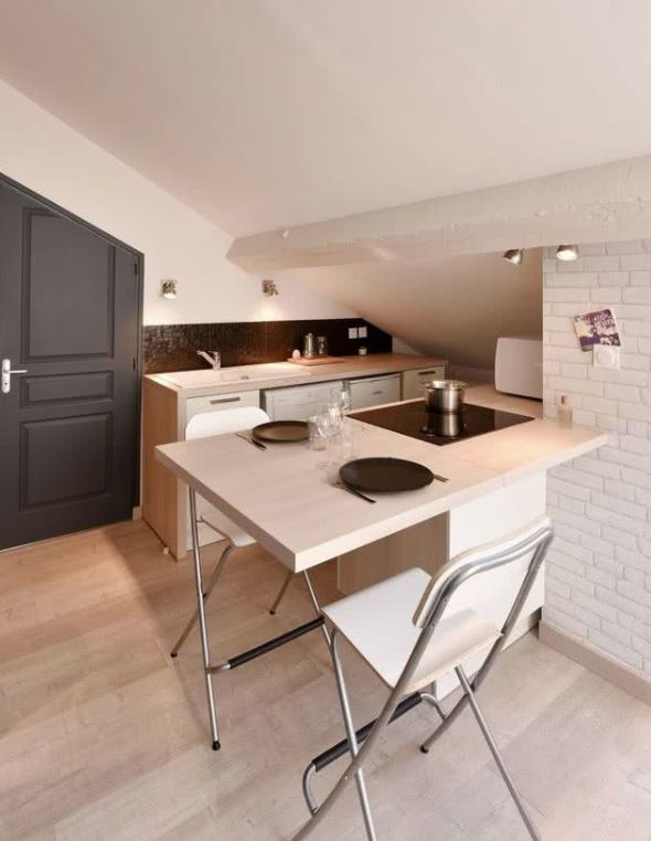 decoracion cocina pequeña apartamento