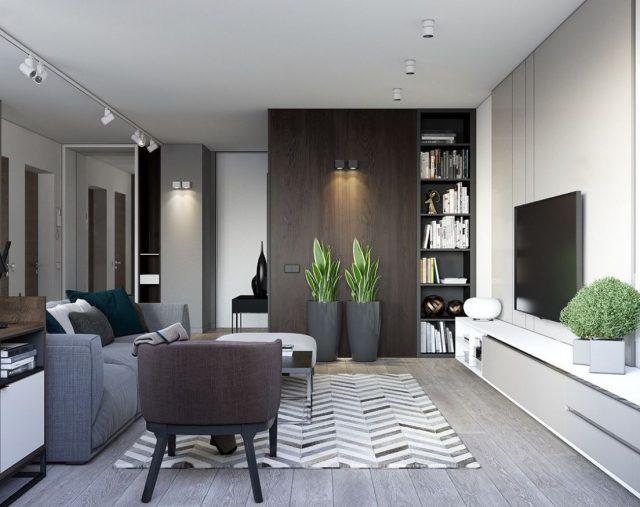 decoracion salones muebles oscuros