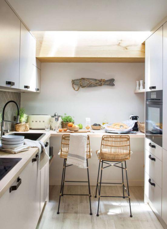 decorar cocina pequeña con poco dinero