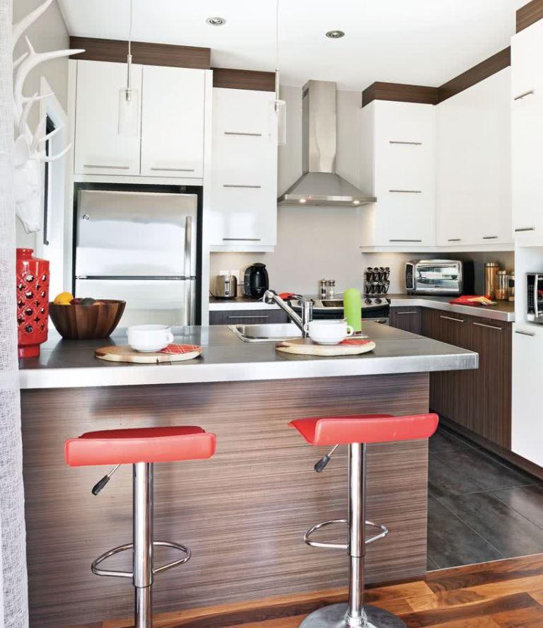 diseños islas para cocinas pequeñas