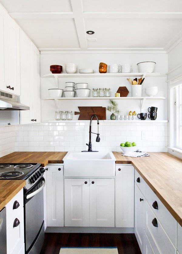 estanterias altos para cocina pequeñas