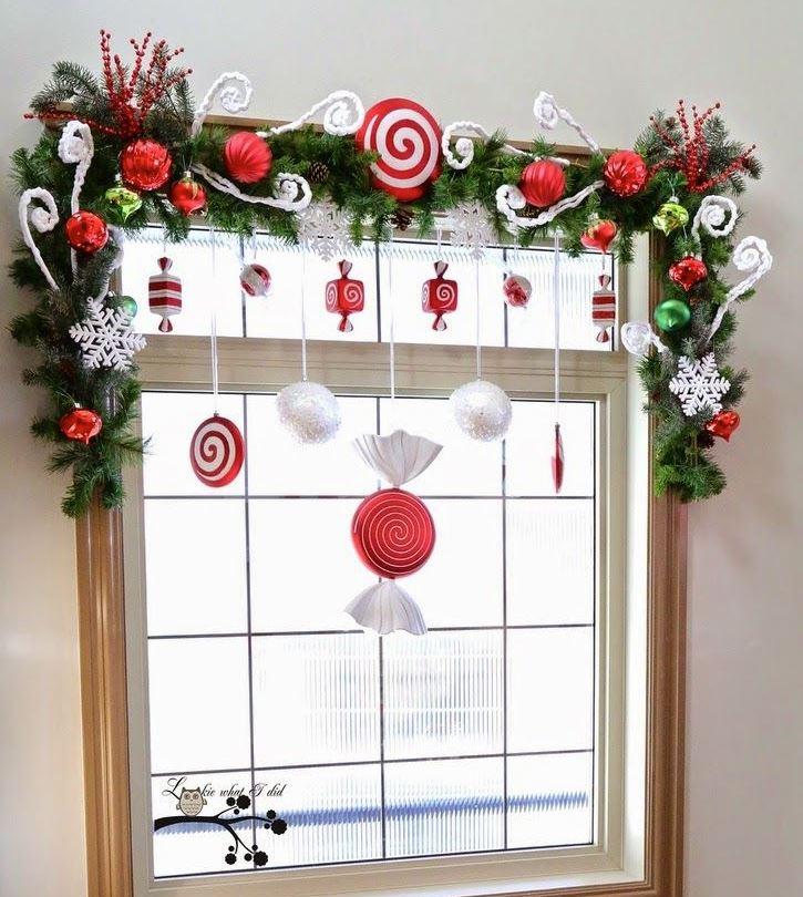 accesorios colgantes para ventanas navideñas