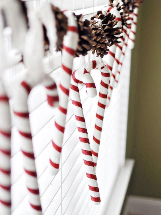 adornos navideños para ventanas exteriores