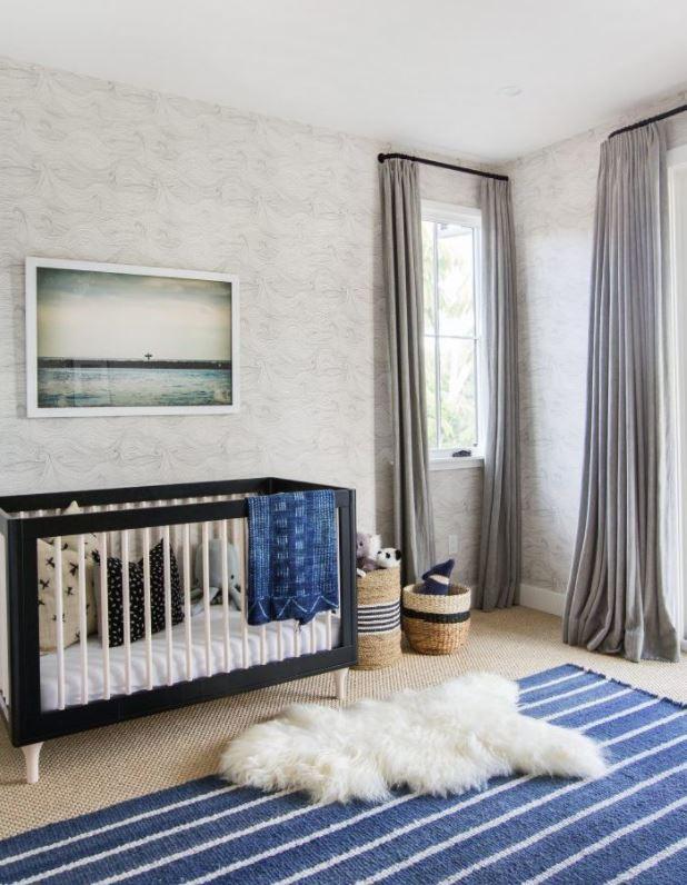 alfombra grande para habitacion de bebe