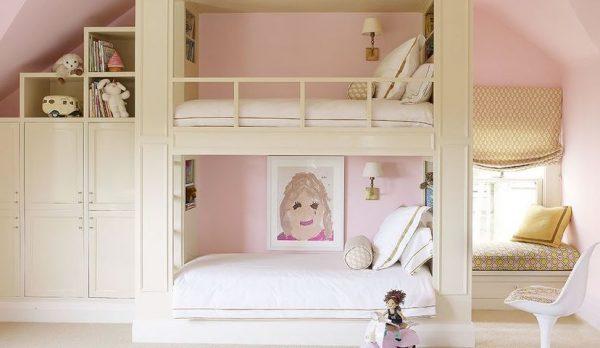 camas altas juveniles para niña