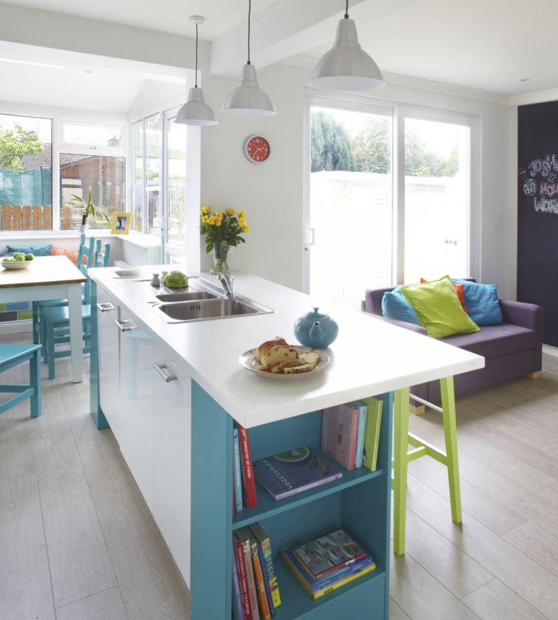 cocina con salon integrado moderno original