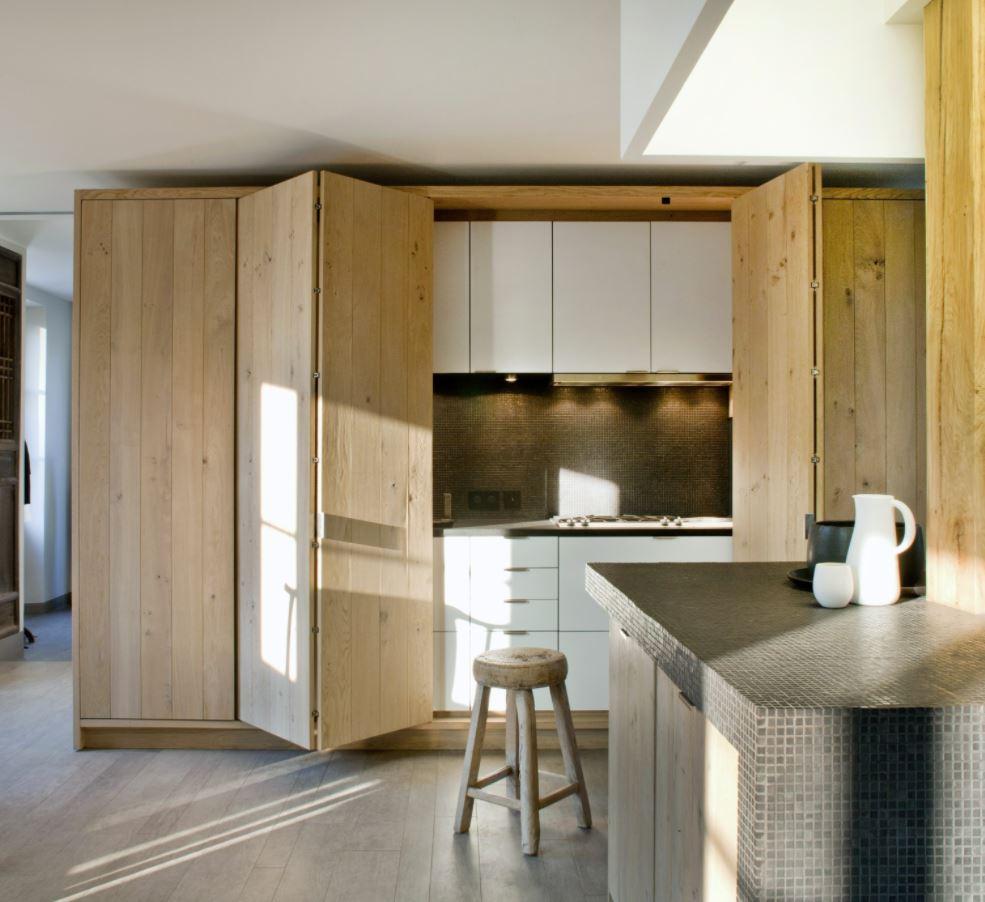 cocina escondida en armario