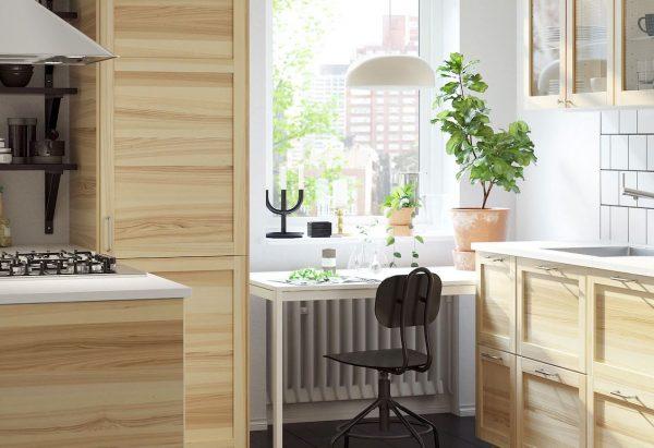 cocina integral de madera pequeña