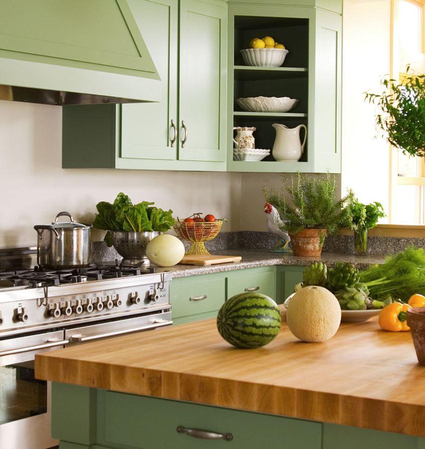 cocina modernas encimeras madera