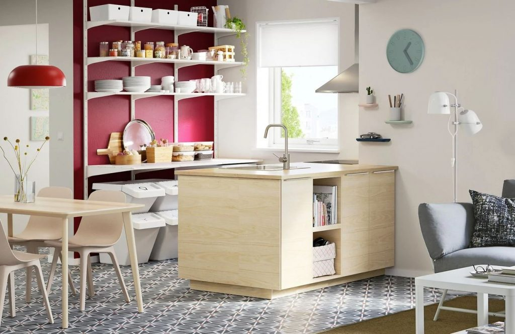 cocinas incorporadas al salon