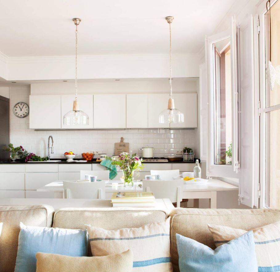 cocinas integradas en salones pequeños