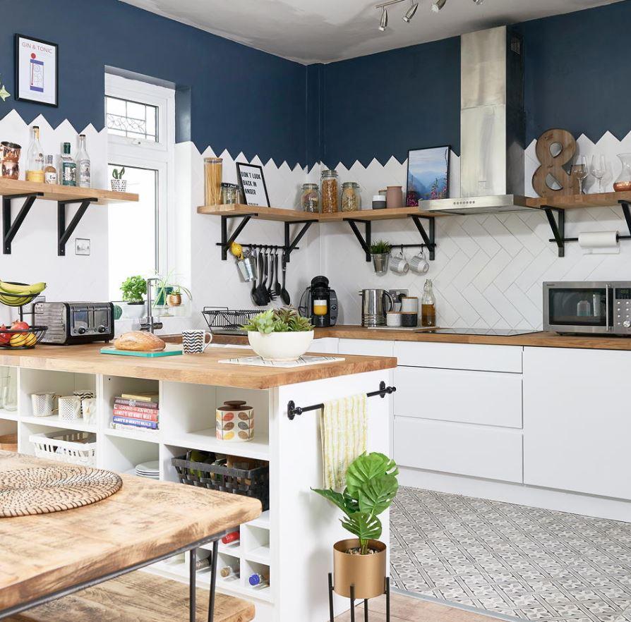 cocinas pequeñas integradas a la sala