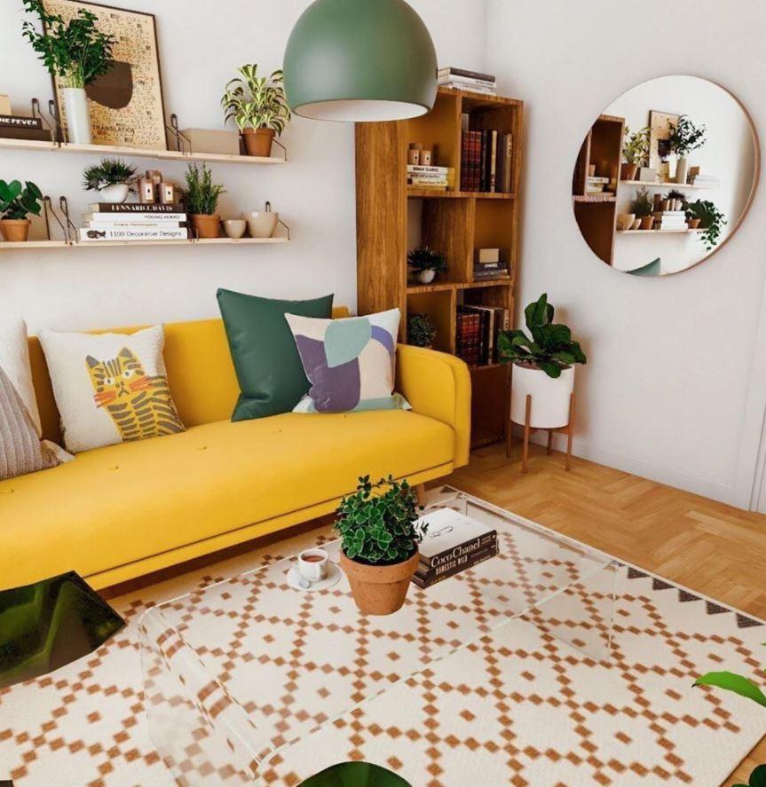 colores para sala de estar en dos tonos