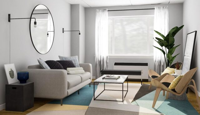 como decorar un salon rectangular