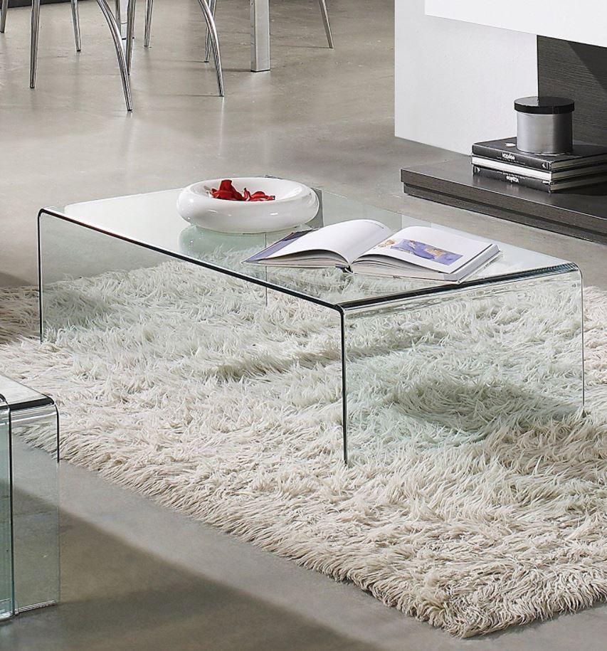 como decorar una mesa de centro de cristal