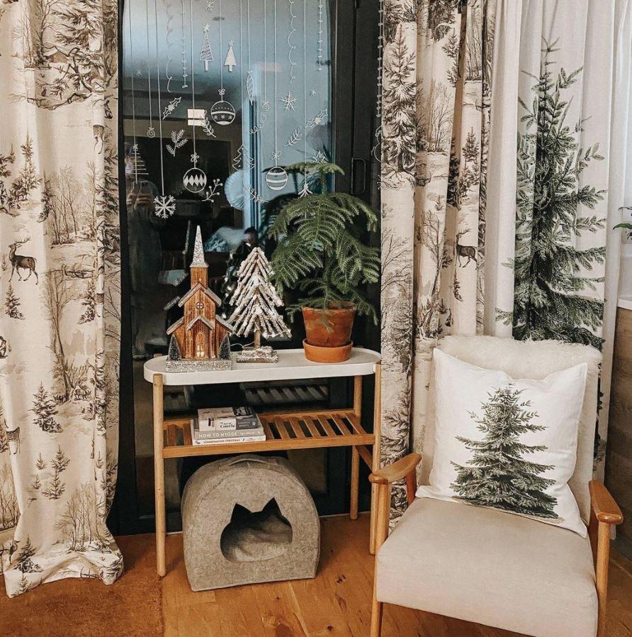 cortinas navideñas elegantes