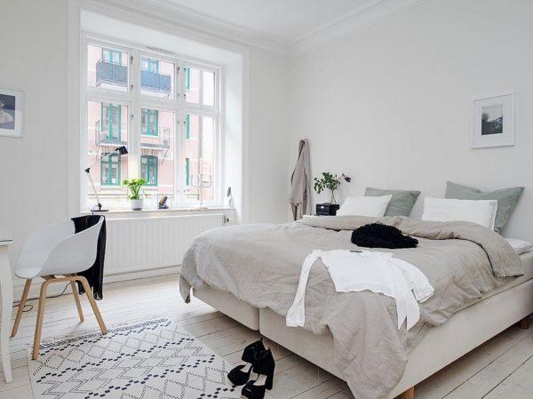 decoración nórdica para dormitorio