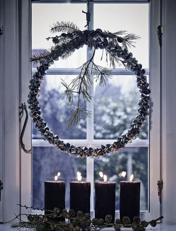 decoracion con velas en navidad