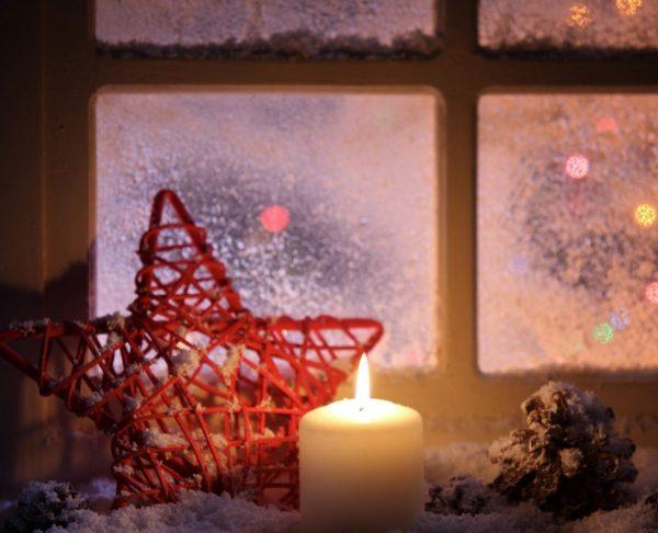 decoracion con velas navideñas