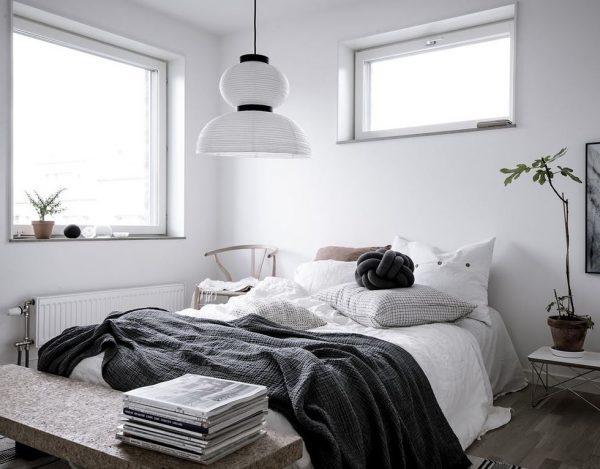 decoracion de dormitorios matrimoniales en blanco y negro