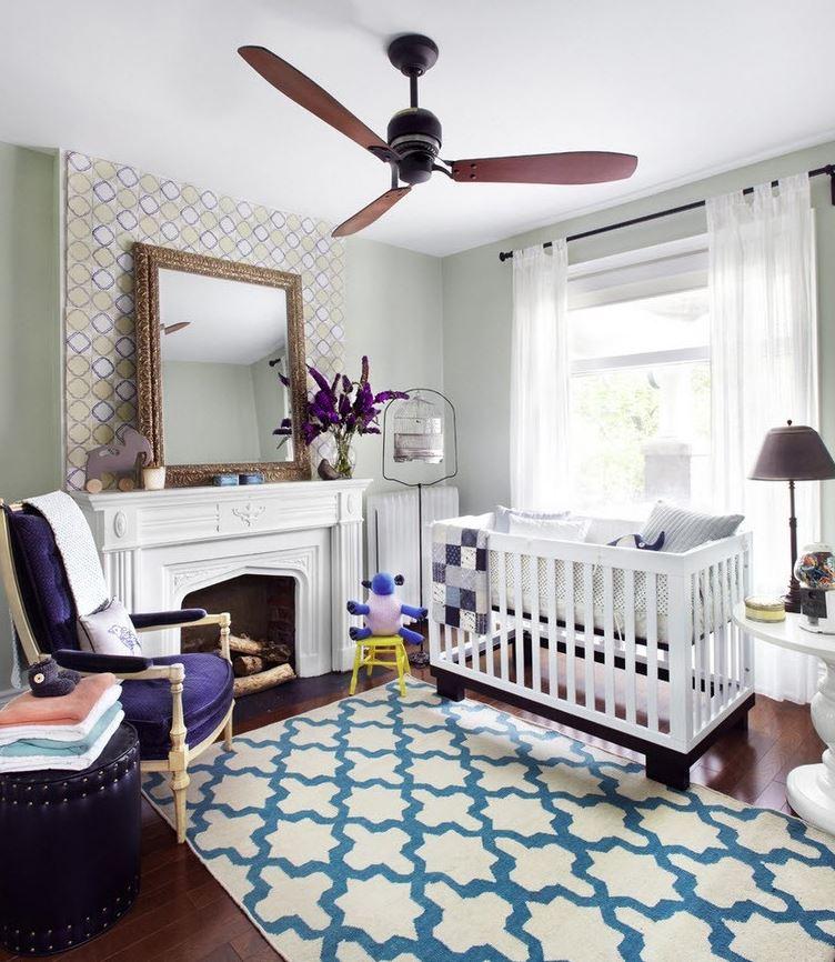 decoracion de habitacion de bebe con alfombra