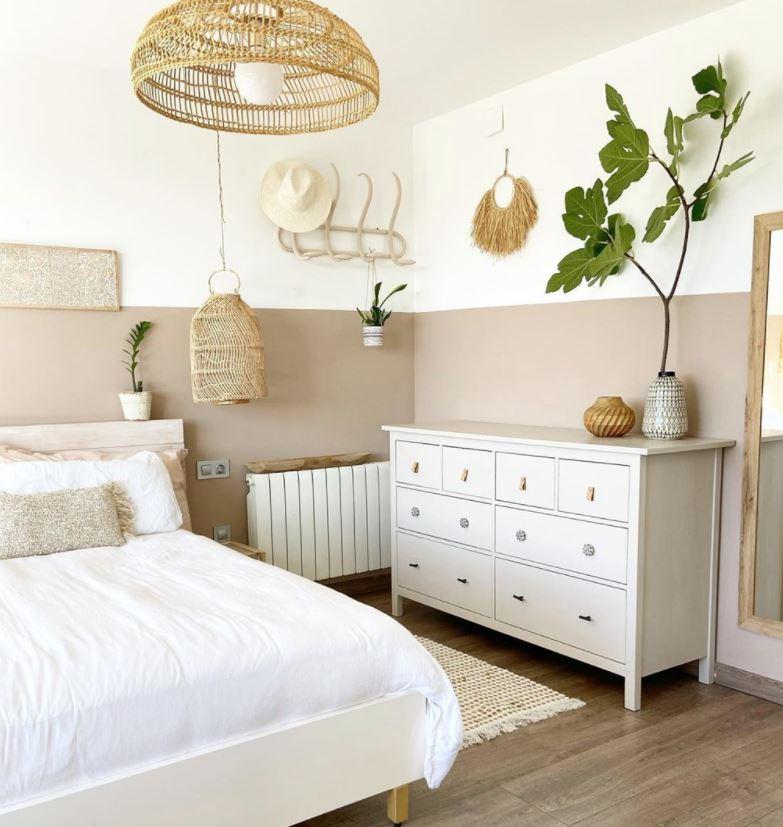 decoracion de habitaciones de matrimonio en blanco y marron