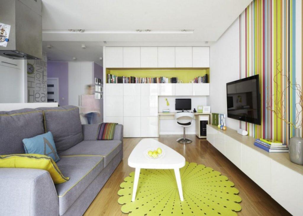 decoracion de salon pequeño y moderno facil