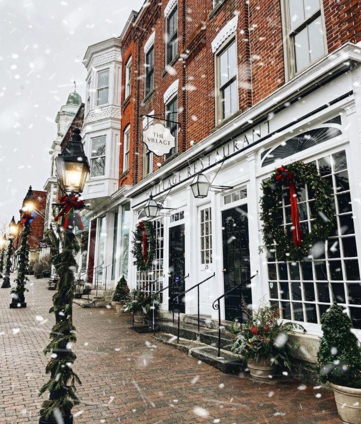 decoracion de ventanas navideñas restaurantes