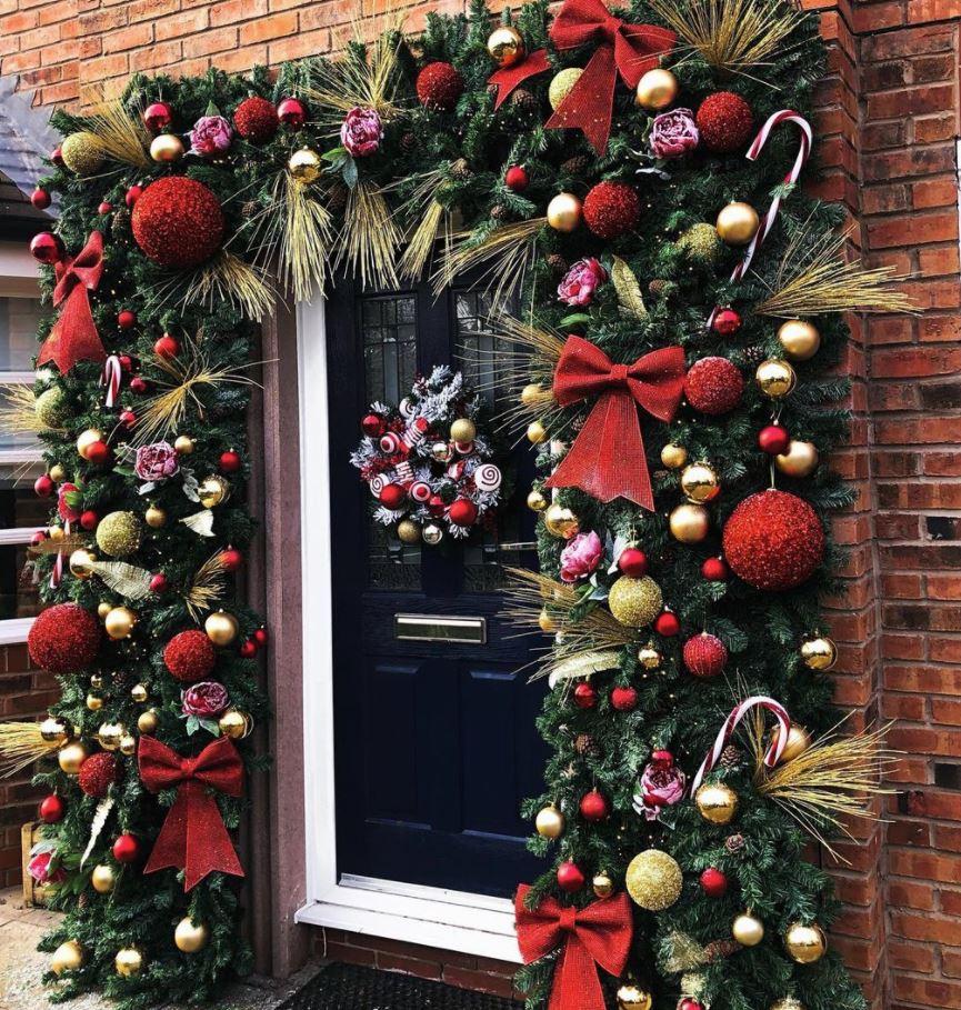 decoracion puerta navidad