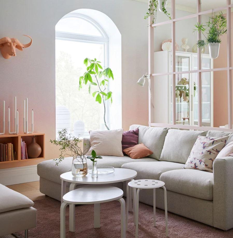 decoracion sala de estar estilo nordico