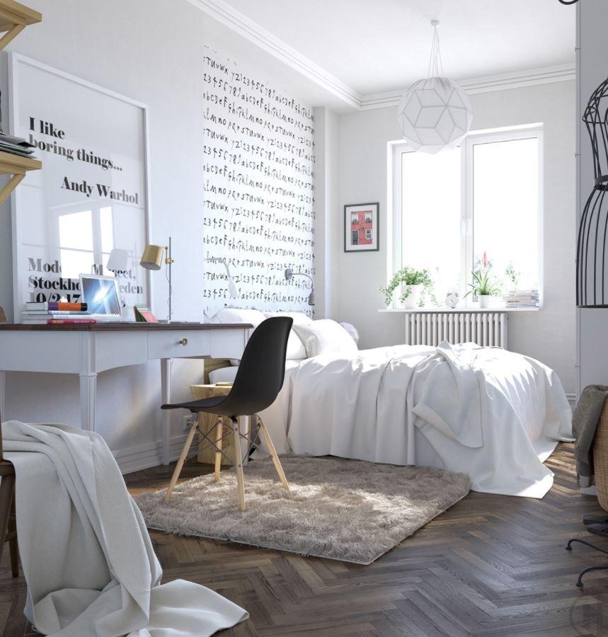 decorar con gusto habitacion matrimonio pequeña moderna