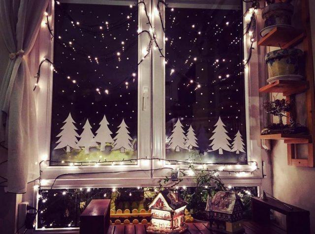 decorar cristales ventanas navidad