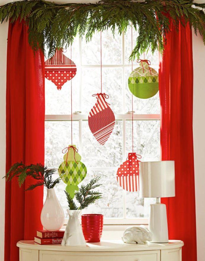 decorar ventanas interior navidad