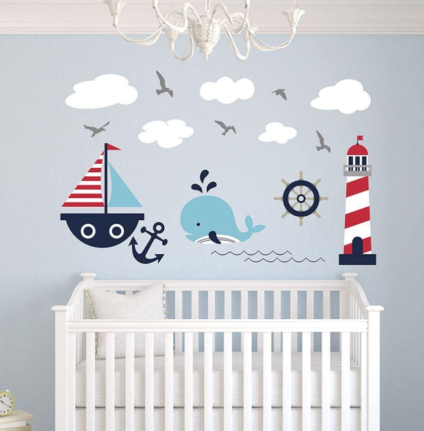 habitación de bebé con vinilos amazon