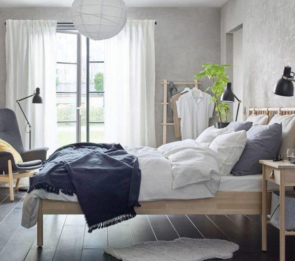 habitacion matrimonio estilo nordico