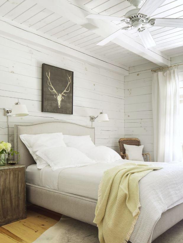 habitaciones bonitas de matrimonio en madera blanca