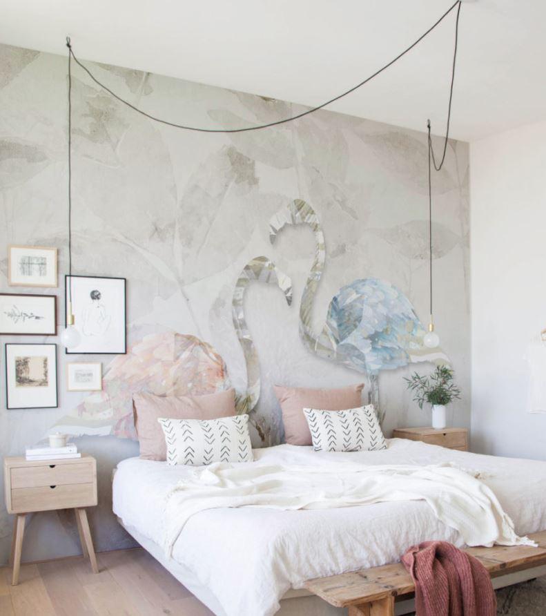 habitaciones estilo nordico color tierra