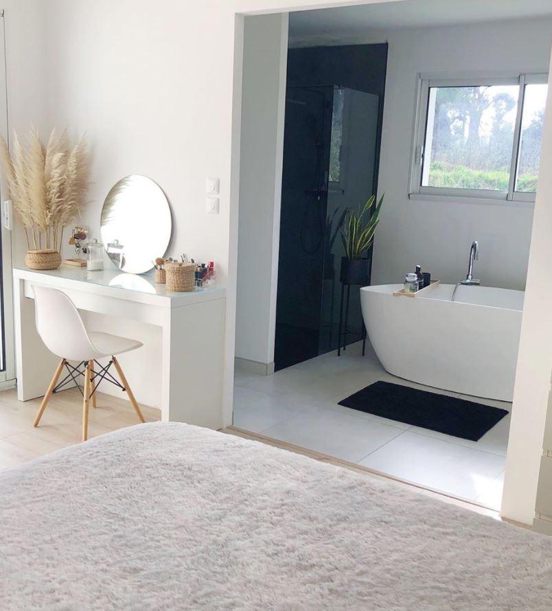 habitaciones matrimonio modernas con bañera