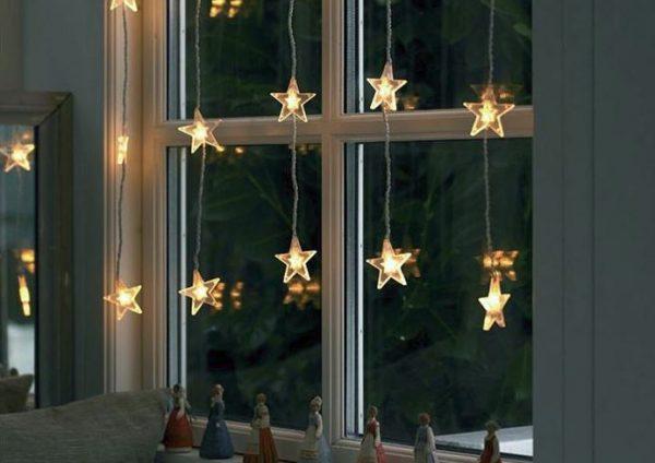 luces navideñas para decorar la ventana