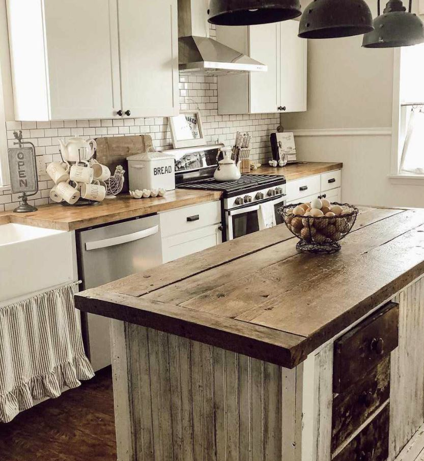 mesas de cocina de madera antiguas