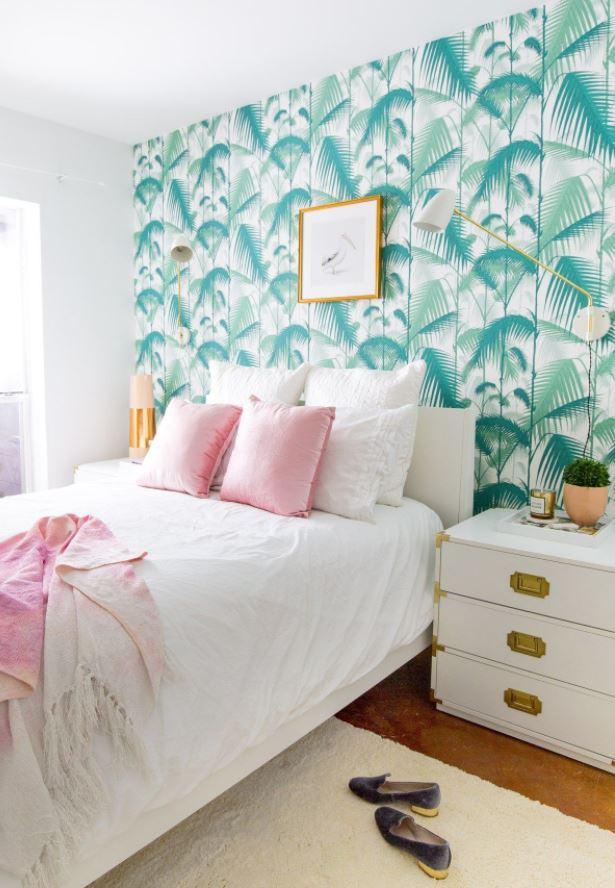 papel pintado habitacion matrimonio moderno