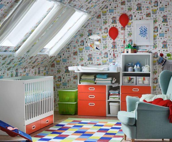 papel pintado pared para niños