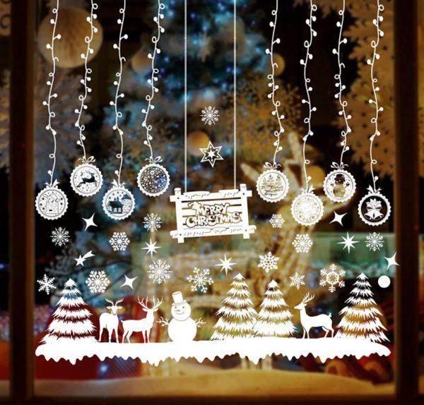 pegatinas para ventanas de navidad