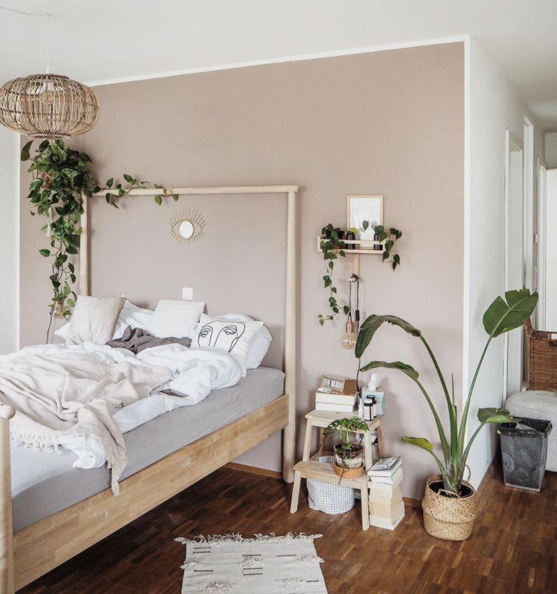 plantas colgantes para dormitorio