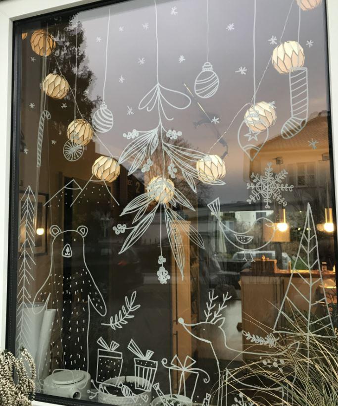 plantillas decoracion navidad ventanas