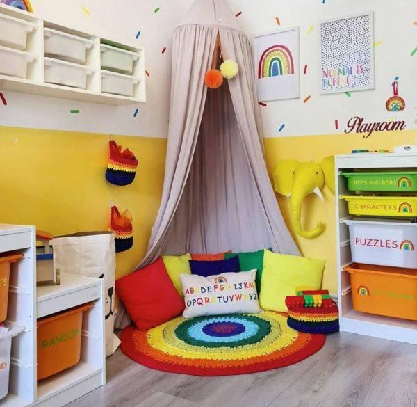 rincon de lectura para niños en casa