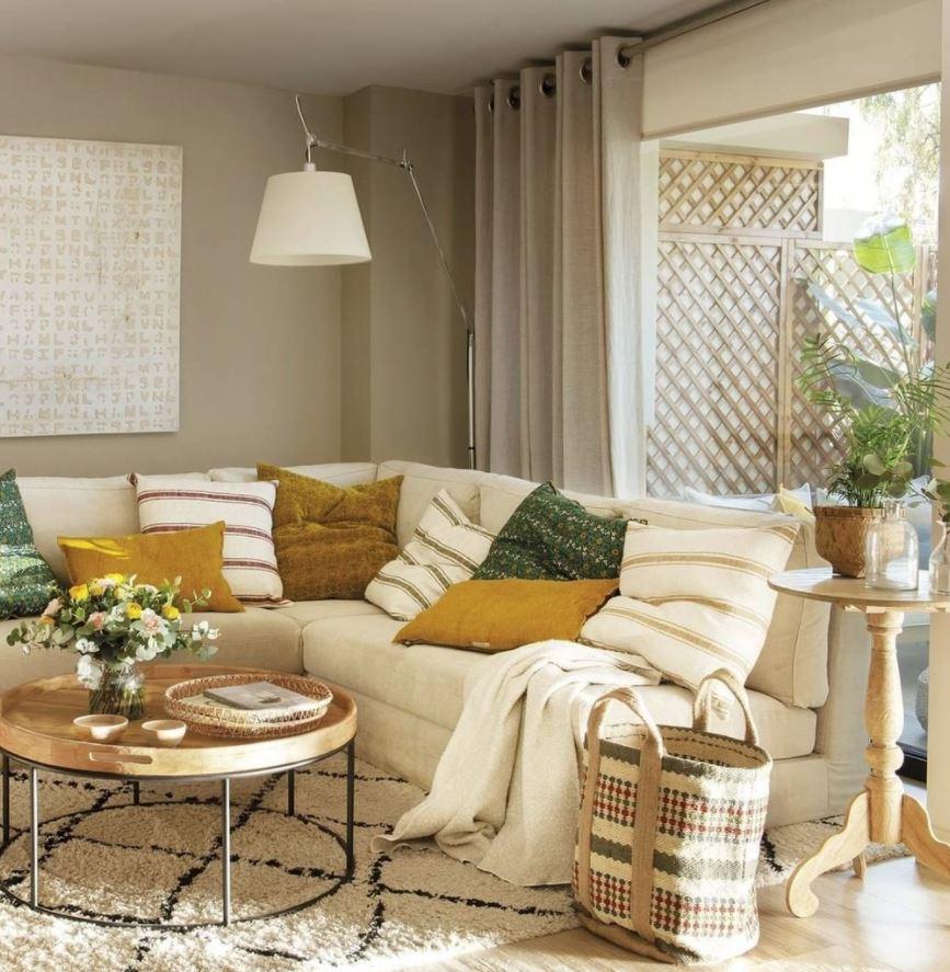 sofas chaise longue para espacios pequeños