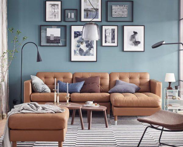 sofas modulares marrones ikea